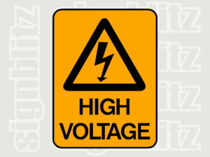 1614-15 Warning Safety Sign High Voltage