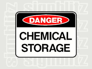1614-6 Danger Sign Chemical Storage Danger Safety Sign