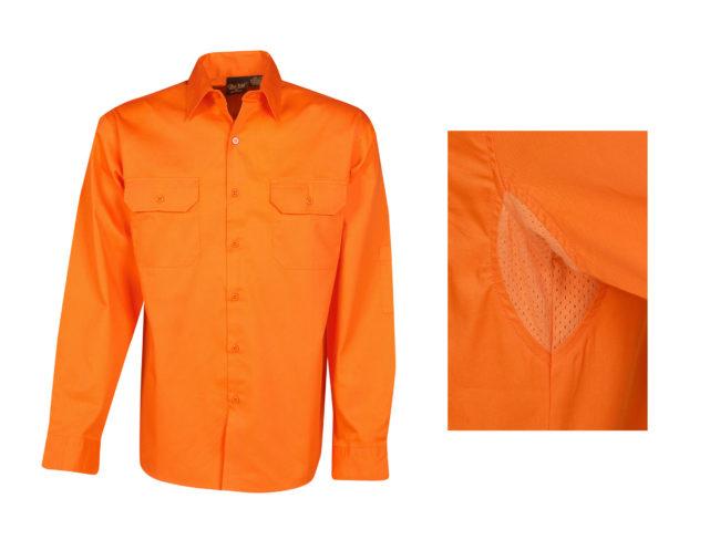 Hi Vis Button Up Cotton Shirts