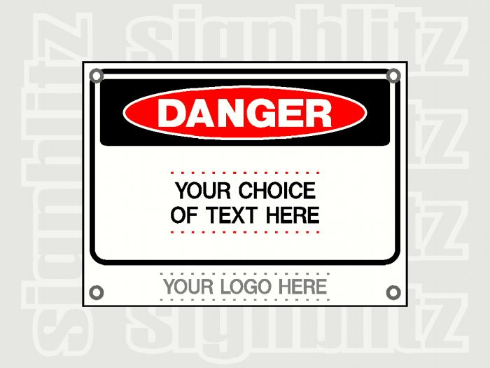 Custom Danger Signs Printed With Your Logo