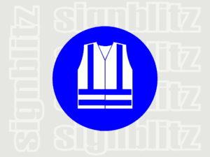 1614-32 Mandatory Hi-Vis Safety Vest Symbol