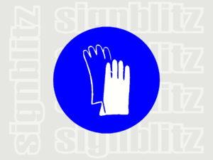 1614-33 Mandatory Hand Protection Symbol