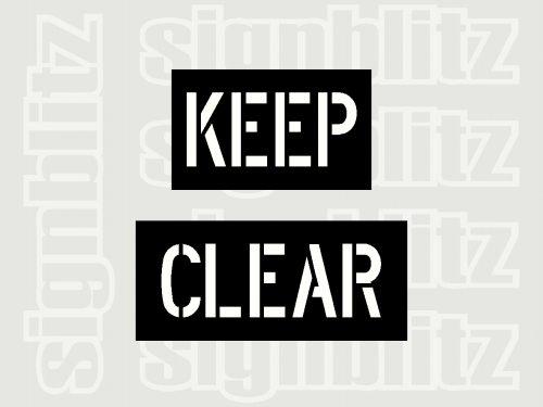 Keep-Clear-Stencil