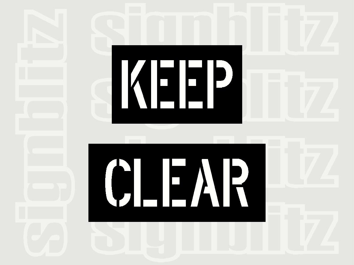 Keep Clear Stencil 300 x 400mm