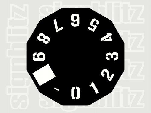 Number-Clock-Stencil