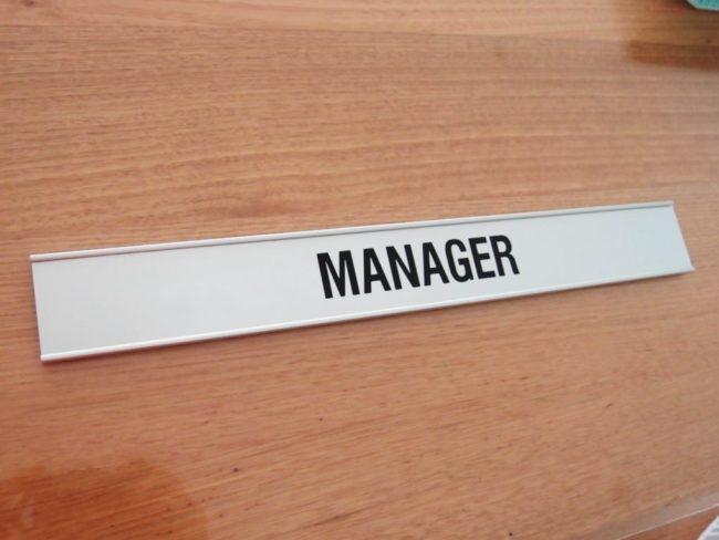 Door Name Sign custom
