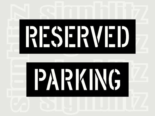 Reserved-Parking-Stencil