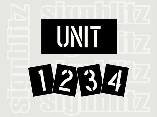 Unit-Number-Stencil