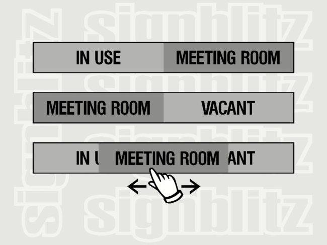 Sliding Panel Door SIgn