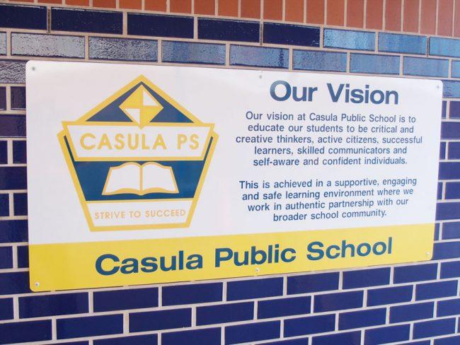 School Vision Statement Sign