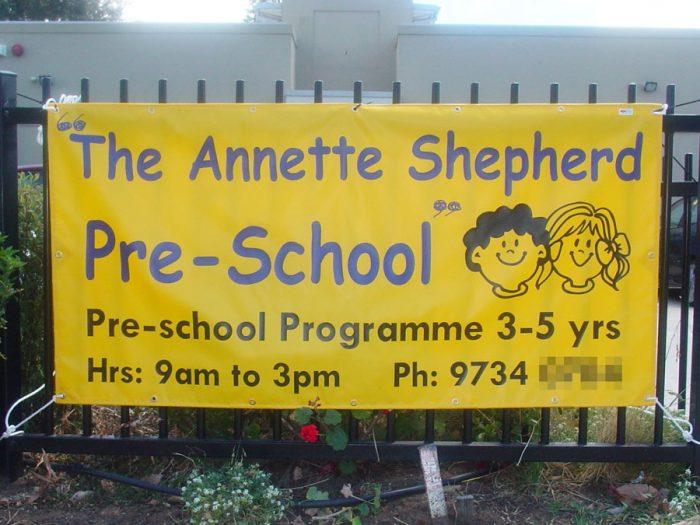 Preschool Programme PVC Sign