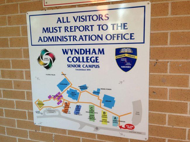 School Map Directory Sign