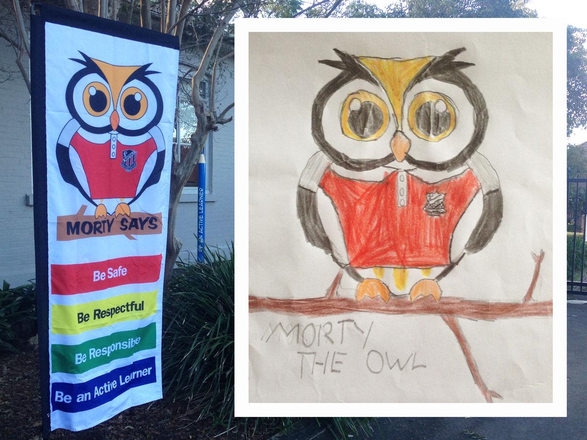 PBL School Character / Mascot Design sign