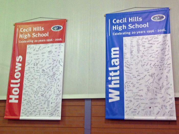 School Anniversary PVC Signs