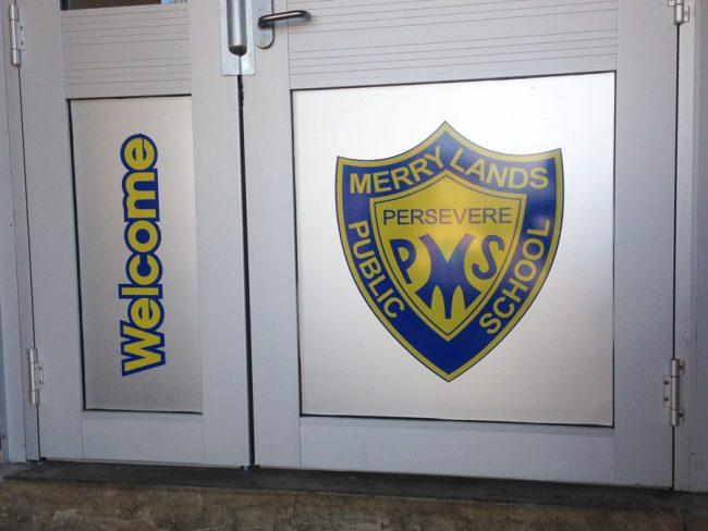 MPS School Door Welcome Sign Decall