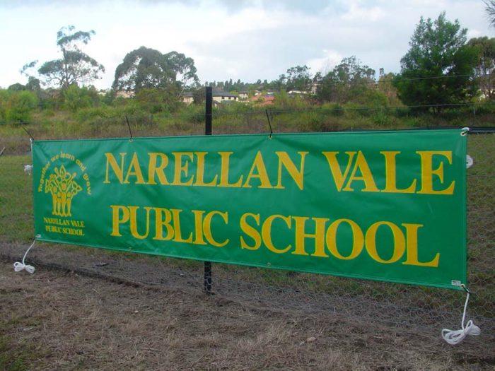Public School promotional sign