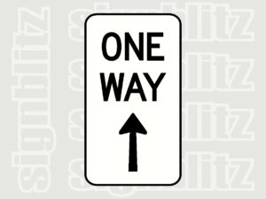 R2-17-One Way Up Arrow Sign