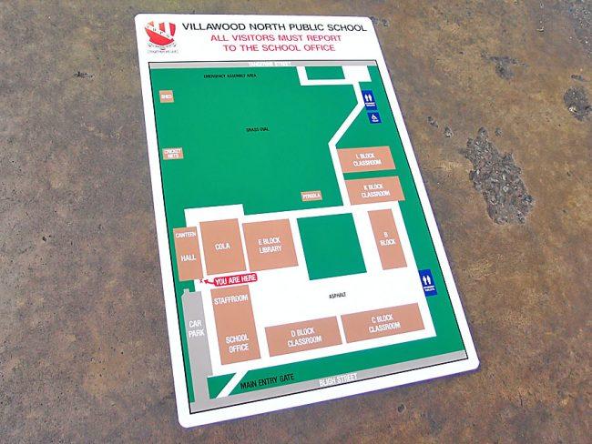 School Map Directory Signs