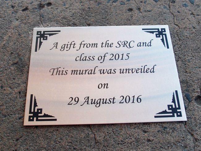 School Plaque Aluminium Engraved Sign
