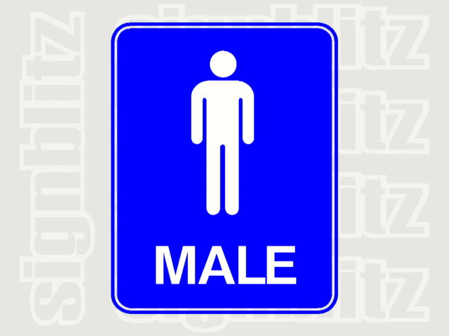 17ED-11-M Male Toilet School Sign
