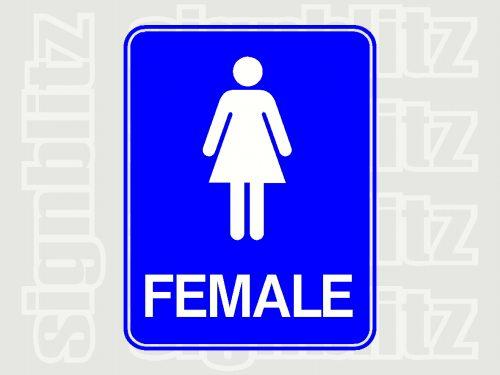 17ED-12-F Female Toilet School Sign