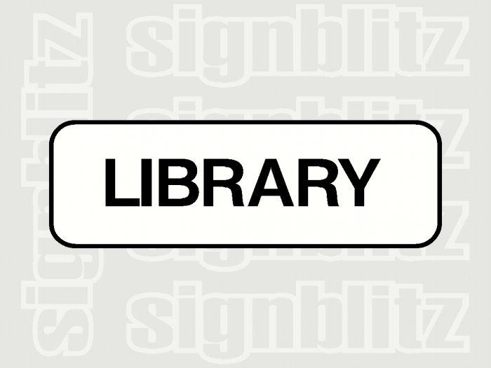 17ED-21 School Library Block Sign