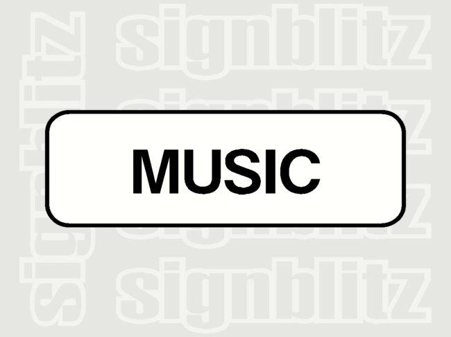 17ED-27 School Music Block Sign