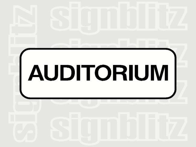 17ED-28 School Auditorium Block Sign