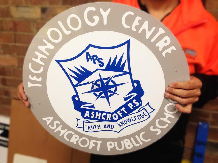 APS Technology Centre Sign