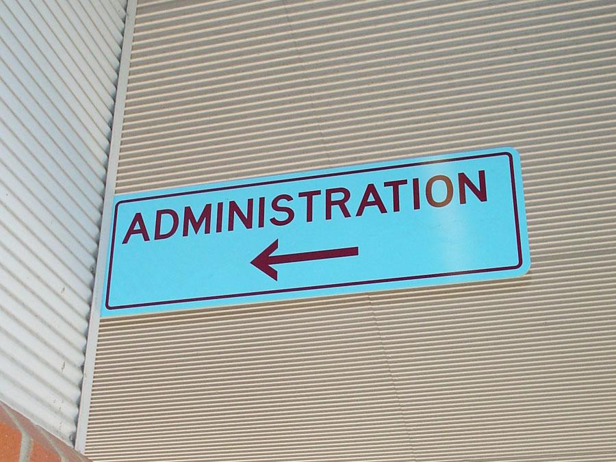 School Block Signs - Administration Office School Block sign