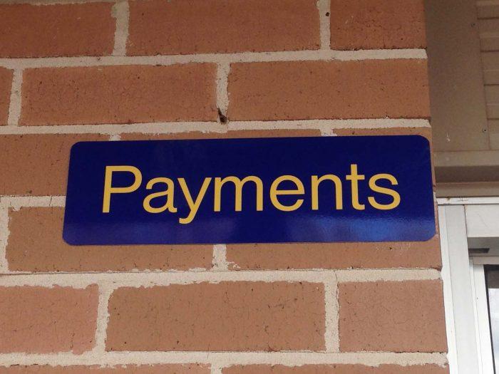 School Block Signs - School Payments Block sign