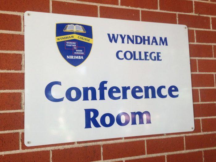 Conference Room School Block sign