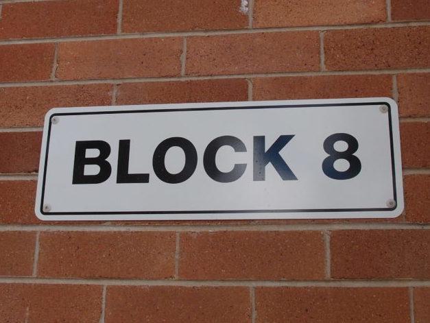 School Block 8 Signs