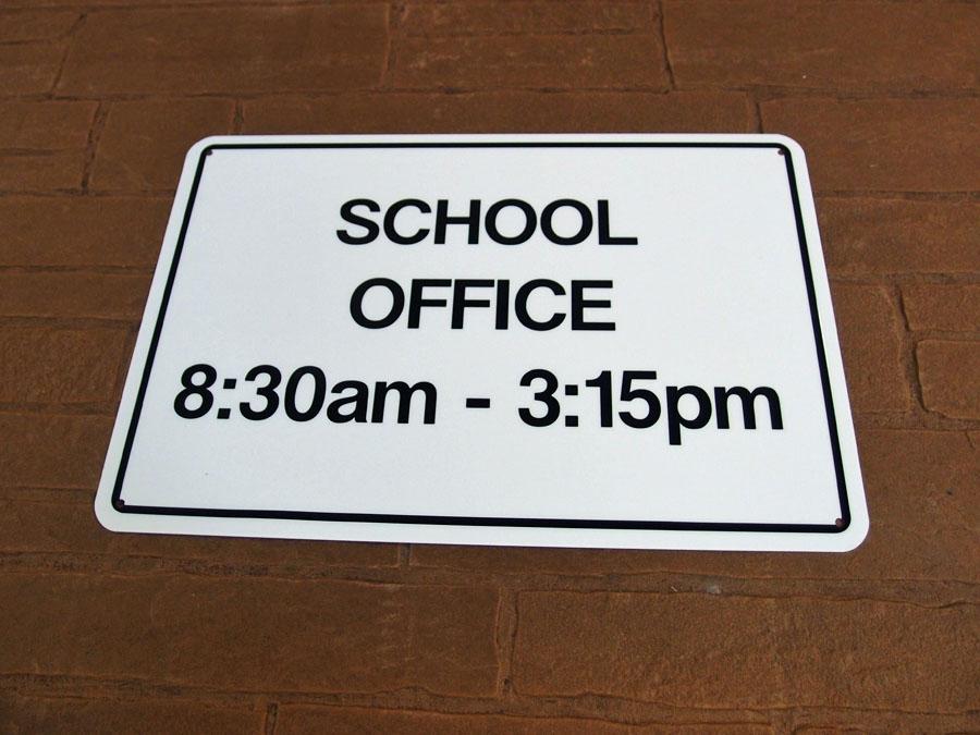Custom Made School Safety Sign
