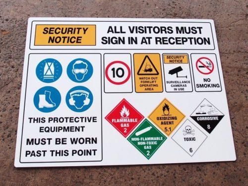 Custom Made Safety Sign Multi Message & Symbols