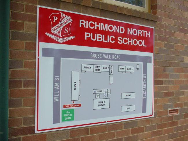 RNPS School Map Sign