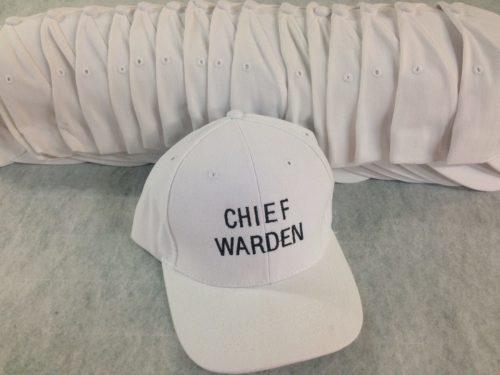 White Chief Warden Embroidered Hat