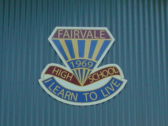 FHS Cut To Shape School Crest ACP Sign