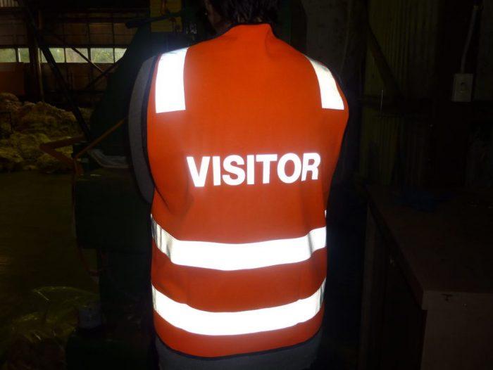 Reflective printed visitor vest