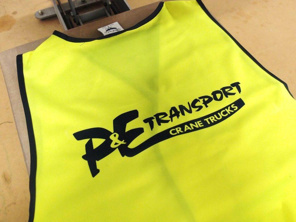 P&E Transport Vest Printing