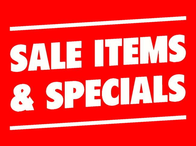 Signage & Stock Specials