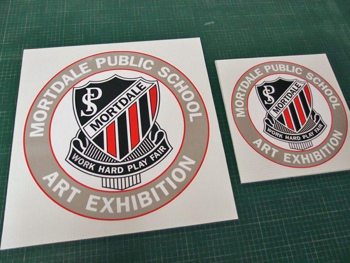 MPS School Art Exhibition Signs