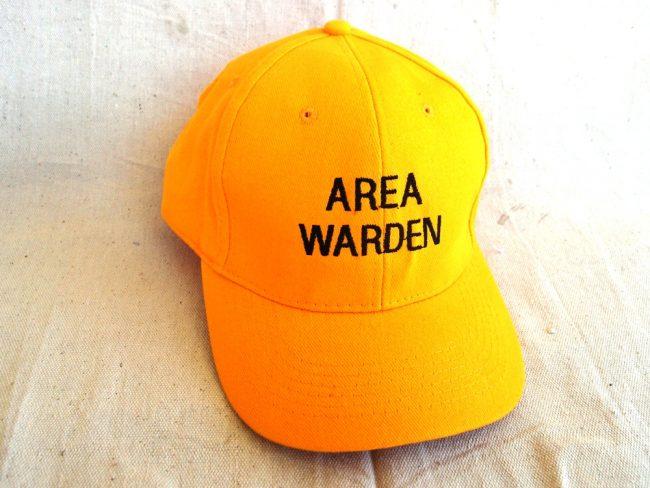 Area Warden Cap Yellow Colours
