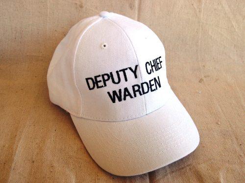 Deputy Chief Warden Cap White Colours
