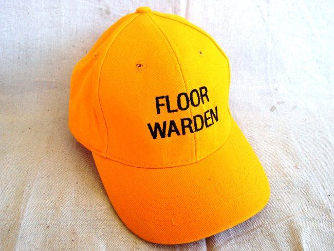 Floor Warden Cap Yellow Colours