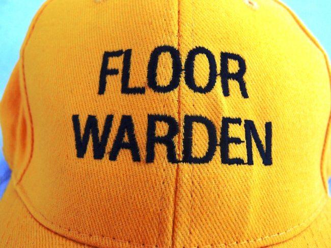 Yellow Floor Warden Cap Embroidery