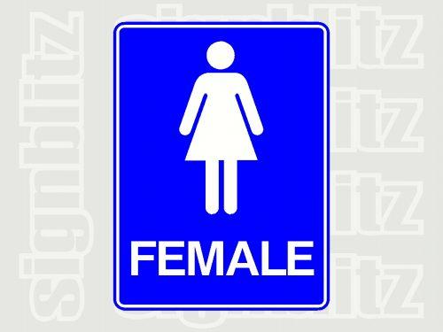 Female Toilet Signage