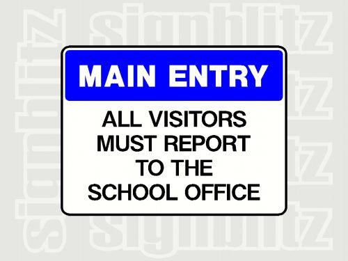 School Gate Sign
