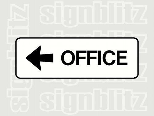 school office sign left arrow