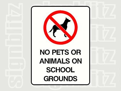 No Pet Allowed Sign